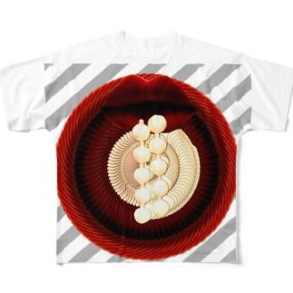 aya aceの唇 Full graphic T-shirts