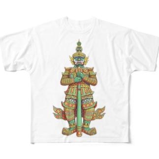 魔よけのヤック Full graphic T-shirts