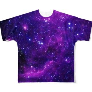 星空宇宙〜紫のきみ〜 Full graphic T-shirts