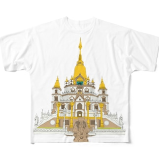 Buu Long Pagoda  Full graphic T-shirts