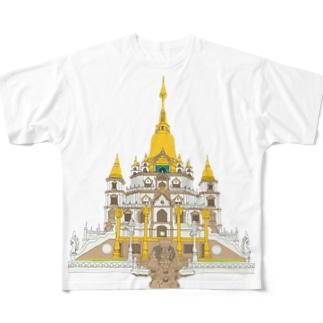 Buu Long Pagoda  Full graphic T-shirts