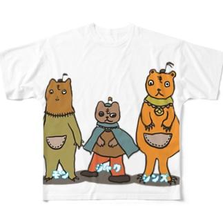 モンジャクシンズ御三家 Full graphic T-shirts