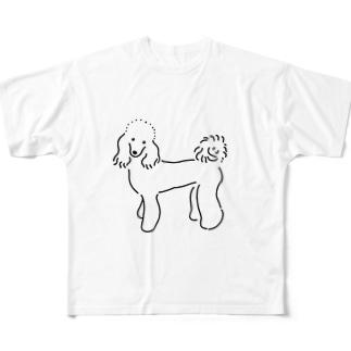 クロエちゃんグッズ(モノクロ) Full graphic T-shirts