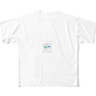 ヒゲ・カップル Full graphic T-shirts