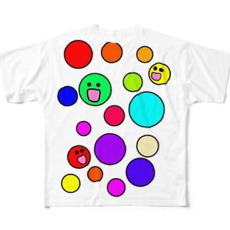 まるかいてちょん Full graphic T-shirts