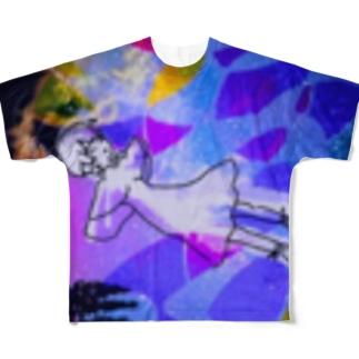 ジェリーフィッシュ くらげ Full graphic T-shirts