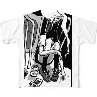 ひとりのじかん Full graphic T-shirts