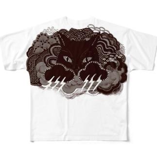 爪が稲妻 Full graphic T-shirts