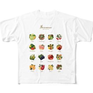 フルーツ盛り Full graphic T-shirts