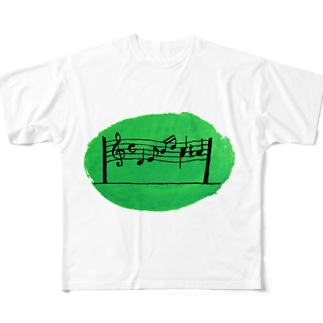 群馬県高崎市ガードパイプ Full graphic T-shirts