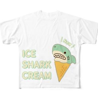 アイスクリームなサメ Full graphic T-shirts