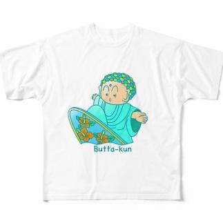surf Butta-kun(green) Full graphic T-shirts