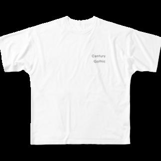 サトウ マサヤスのCentury Gothic Full graphic T-shirts