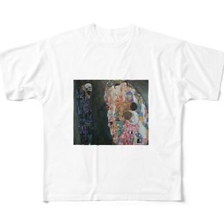グスタフ・クリムト(Gustav Klimt) / 『死と生』(1915年) Full graphic T-shirts