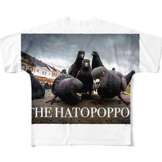 鳩ちゃん Full graphic T-shirts