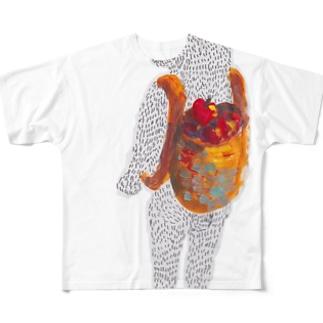 フジオさん、りんご狩りの帰り Full graphic T-shirts