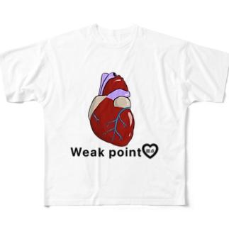 心の臓物 Full graphic T-shirts