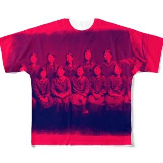 ニッポンの女子高生 Full graphic T-shirts
