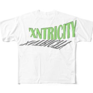 えきせんとりしてぃ-ろご(よこ)こいめ Full graphic T-shirts