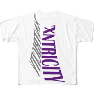 えきせんとりしてぃ-ろご(たて) Full Graphic T-Shirt