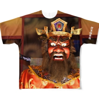 閻魔様フルグラフィックTシャツ Full graphic T-shirts