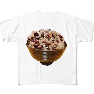 usa100の赤飯 Full graphic T-shirts