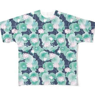 蓮池 Full graphic T-shirts