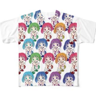 にじいろちびっこ2_椎名しろ Full graphic T-shirts