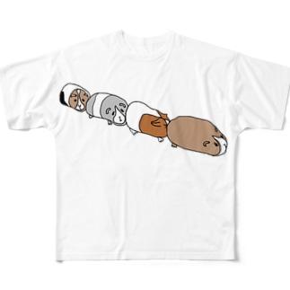 渋滞モルモット Full graphic T-shirts