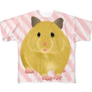 ふわふわキンクマ Full graphic T-shirts