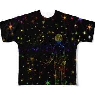 星の風船 Full graphic T-shirts