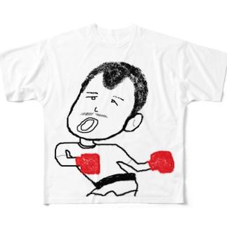 ひげおじさん_三人目 Full graphic T-shirts