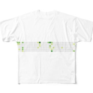 しょぼい芝 Full graphic T-shirts