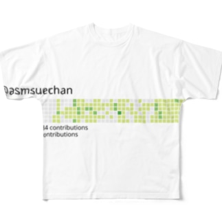 徐々に詰まる芝 Full graphic T-shirts