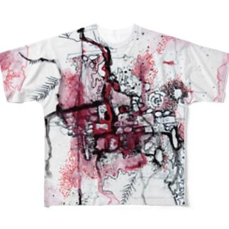 【マロングラッセ・のりこ】飛躍 Full graphic T-shirts