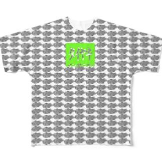 タイヤキインサニティ モノクロver. Full graphic T-shirts