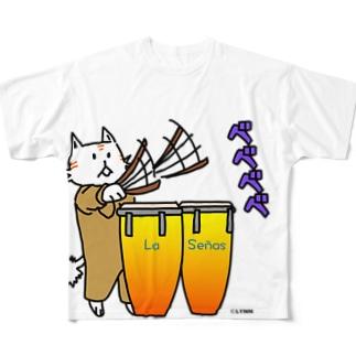 ラセーにゃん(カンドンベ) Full graphic T-shirts