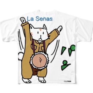 ラセーにゃん(ジャンベ) Full graphic T-shirts