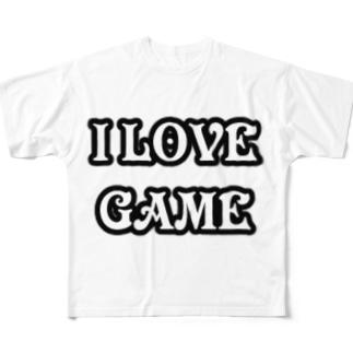 ゲーム好きです Full graphic T-shirts