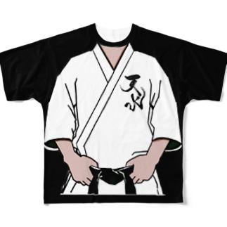 天水刺繍入り道着風 Full graphic T-shirts