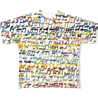 colorful music Full graphic T-shirts