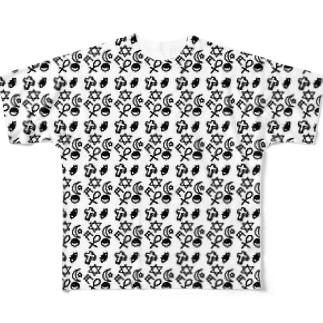 サブカル女子の落書き帳 Full graphic T-shirts