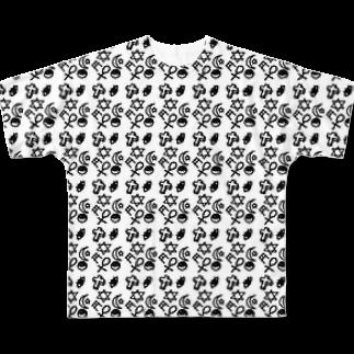 funny globuleのサブカル女子の落書き帳 Full graphic T-shirts