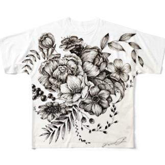 おはなたくさん Full graphic T-shirts