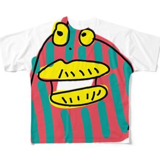 変な生き物 Full graphic T-shirts