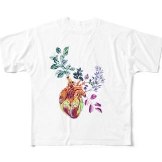 臓花 Full graphic T-shirts