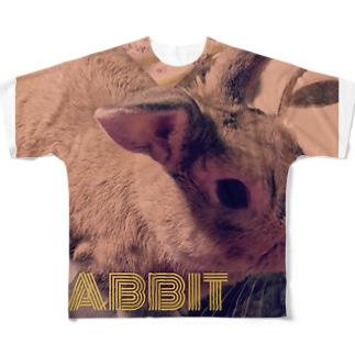 うさぎのゆんた1歳 Full graphic T-shirts