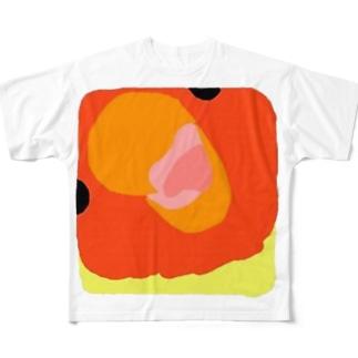 コザクラインコ きょうのピピさん ドアップばーじょん Full graphic T-shirts