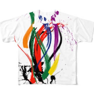 ブラシペイントパターン  BrushPaintPattern 16sysOriginal Full graphic T-shirts