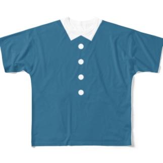 おめかしな青のTシャツ Full graphic T-shirts